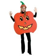Pumpkin Costume Adult Jack-o-Lantern Men Women Halloween Party One Size ... - $841,89 MXN