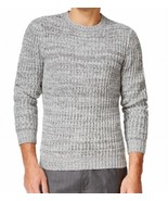 Club Room Men's Gray Ribbed Braided Knit Crewneck Knit Pullover Sweater ... - $19.99