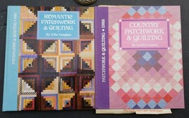 Country Patchwork & Quilting Book & Romantic Patchwork & Quilting Book - $22.80