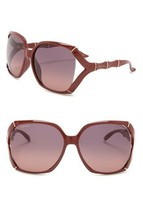 NEW GUCCI Bamboo Square Sunglasses GG0505S Burgundy Red Gold Purple Gradient - $204.47