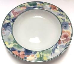 "Mikasa Fine China Garden Flair Rimmed Soup Bowl 8 5/8"" M5003 Floral Mult... - $14.84"