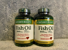 Nature's Bounty Fish Oil 1000 mg 145 Rapid Release Softgels Exp: 12/2021... - $29.99