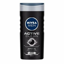 NIVEA Men Shower Gel, Active Clean Body Wash, Men, 250ml Free Shipping - $12.86
