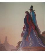 1987 SIGNED Bill Rabbit Spirit Lives Cherokee Indian Framed Poster Print - $249.99