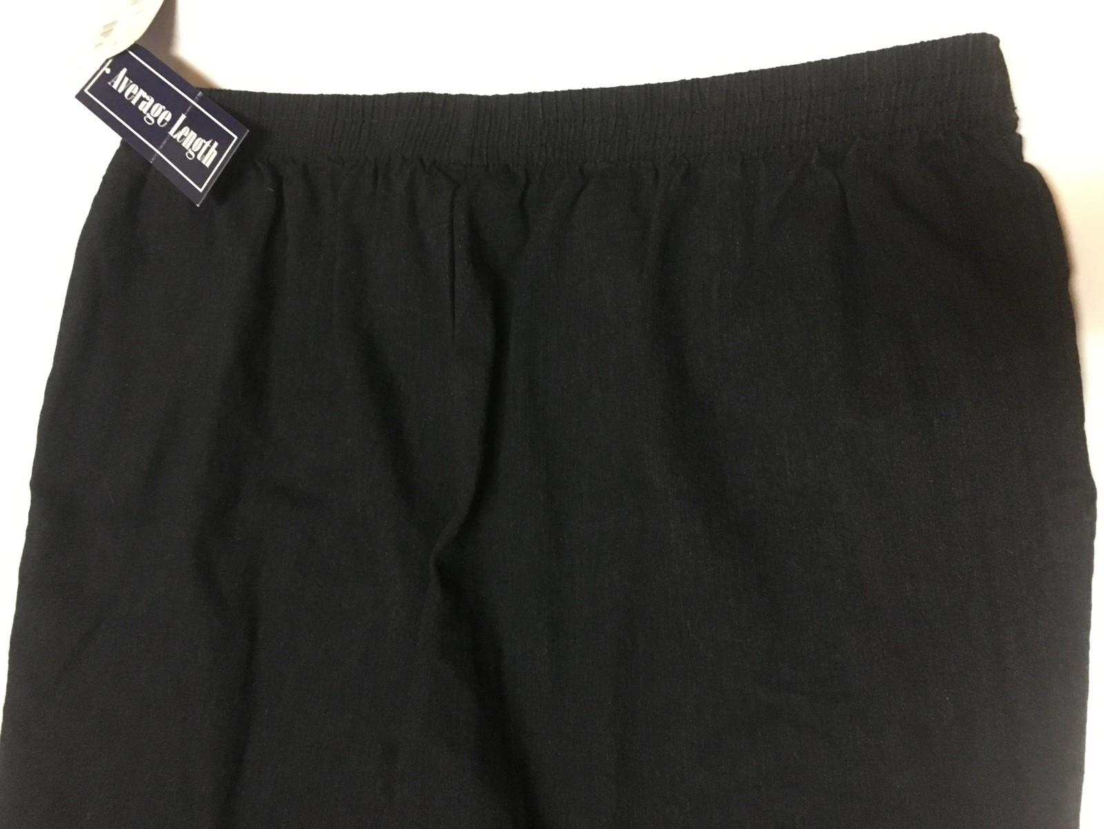 Laura Scott Black Denim Stretch Pants Sz 24W NWT (40 x 28)