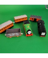 Thomas Train Lot 6 Percy Diesel Annie Clarabel Sodor Scruffy Britt Allcr... - $94.99