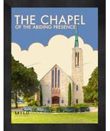 "Texas Lutheran ""The Chapel of the Abiding Presence"" 13x16 Art Deco Frame... - $39.95"
