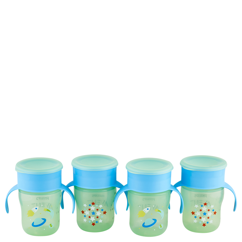 Primary image for Philips Avent My First Big Kid Cup Green/Blue 9m+ 360 degree BPA Free 4 Ct 9 oz
