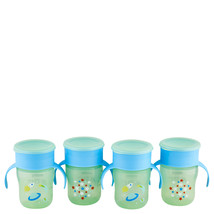 Philips Avent My First Big Kid Cup Green/Blue 9m+ 360 degree BPA Free 4 ... - $22.65