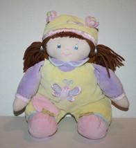 "Baby GUND Plush EMMA Doll 12"" Brown Yarn Hair Pigtails Hat Cap 58300 But... - $18.37"