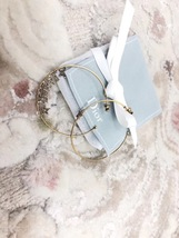 AUTH Christian Dior LIMITED EDITION J'ADIOR CRYSTAL LARGE HOOP EARRINGS GOLD image 4