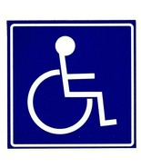"""HANDICAPPED Decal - 6"""" x 6"""" DISABLED ADA SYMBOL Highly Reflective Decal - $9.90"""