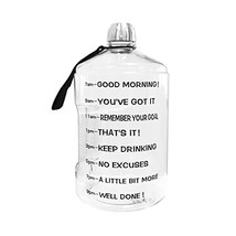1 Gallon Water Bottle Motivational Fitness Workout with Time Marker |Dri... - $15.01