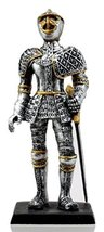 """Ebros Gift Medieval French Knight Dollhouse Miniature Figurine 4"""" H Suit... - $10.39"""