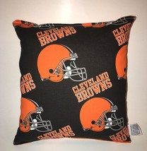 Browns Pillow NFL Pillow Cleveland Browns Pillow Football Pillow HANDMAD... - $9.97