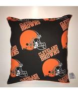 Browns Pillow NFL Pillow Cleveland Browns Pillow Football Pillow HANDMAD... - $9.97