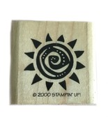 Rubber Wood Stamp Stamping Crafting Stampin Up Sun Sunny Sunshine - $9.89