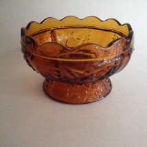 "Vintage Gold Glass Small Candy Bowl Open Dish w/Pedestal 4.5"" Round 2.75... - $10.73"
