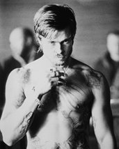 Brad Pitt Fight Club Barechested Boxing B&W 16x20 Canvas Giclee - $69.99