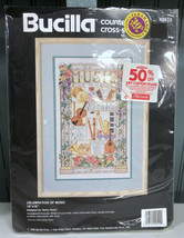 "Bucilla Celebration Of Music Cross Stitch 40512 10x16"" Craft Kit  - $14.58"