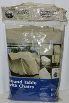 Treasure Garden Care CP571 Round Table and Chairs Cover Color Champagne image 1