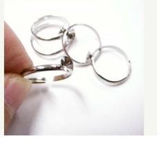 6pc platinum look ring shanks-583 - $1.00