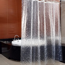 shower curtains liners 3d water cube effect mildew proof waterproof bath clear thicker thumb200