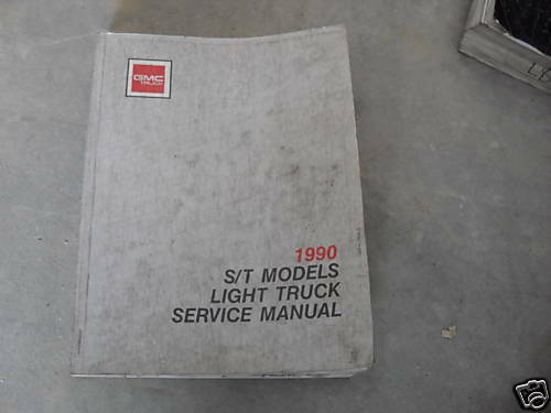 Primary image for 1990 GM Chevy GMC S/T ST JIMMY SONOMA S15 Truck Service Shop Repair Manual WORN