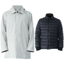 Men'sInterchange3in1Waterproof Detachable SkiJacket-Gray-XXL - $155.00