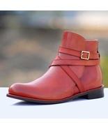 Handmade Jodhpur Burgundy Color Leather Boot For Men  - $149.99+