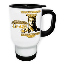 Tranformers Wanted Good Rates White/Steel Travel 14oz Mug v801t - $17.79