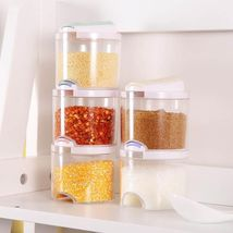 Kitchen Condiment Clear Spice Jar Salt Seasoning Plastic Storage Box - $45.00