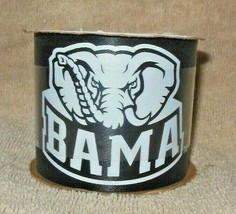 UNIVERSITY OF ALABAMA CRIMSON TIDE 'BIG AL' BLACK WHITE SATIN RIBBON 2.5... - $9.99