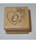 Heart Flowers Rubber Stamp O Daisies Love Wood Mounted Embossing Arts - $4.94