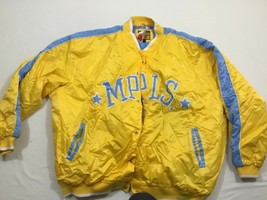 M42 New G-3 Sports Mlps Lakers Yellow Embroidered Snap Front Jacket Men's 4XL - $148.45