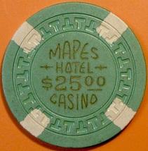$25 Casino Chip, Mapes, Reno, NV. 1950s. T71. - $12.50
