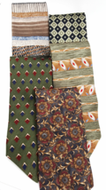 Mens Necktie Collection  Lot of 5  Contemporary Traditional Mix  Designe... - $25.00
