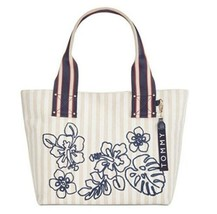 Tommy Hilfiger Classic Canvas Floral Shopper Tote Bag, Natural - $58.00