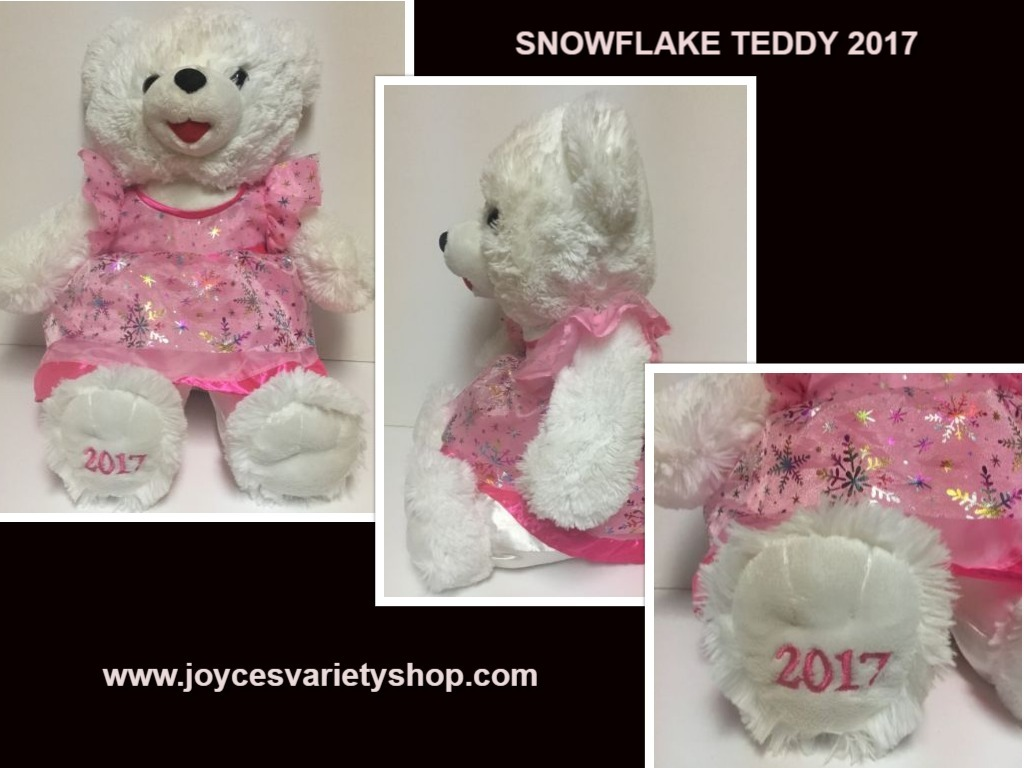 Snowflake pink 2017 teddy web collage