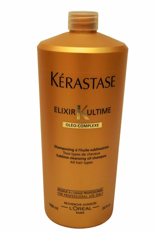 Kerastase Elixir Ultime Subline Cleansing Oil Shampoo 34 fl oz / 1000 ml - $56.83