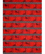 Movie Theater Film Red St Cotton Fabric Lights Camera Action by The Yard - $26.22