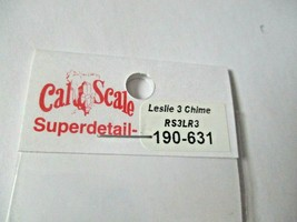 Cal Cal Scale # 190-631 Brass Leslie 3 Chime RS3LR3 Air Horn 1 Pack HO Scale image 2