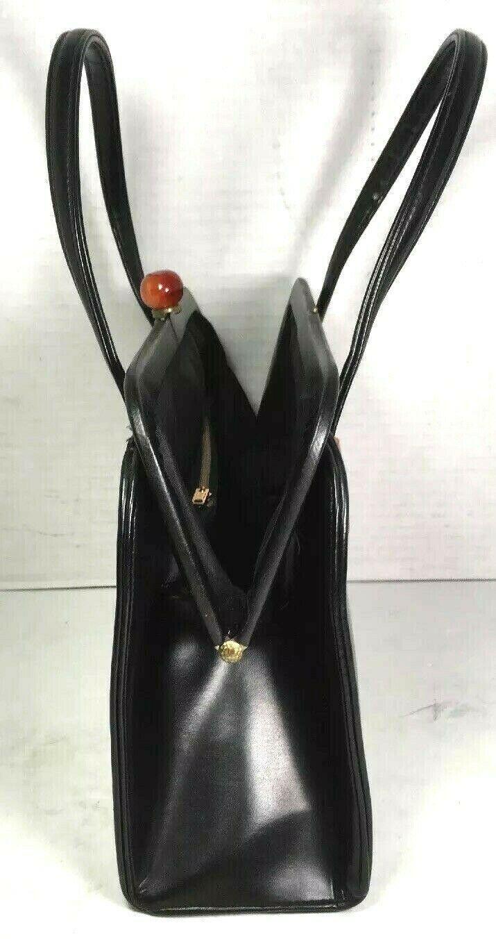 Garay True Vintage Black Faux Leather Handbag