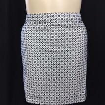 NEW J.Crew 16 XL White Black Skirt Embroider Diamond Dot Straight Short NWT - $34.90