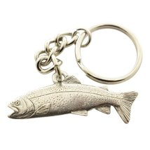 Rainbow Trout Keychain ~ Antiqued Pewter ~ Keychain - $9.99