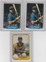 1981 1982 Fleer Dave Winfield  Lot of 3 Yankees Padres - $2.00