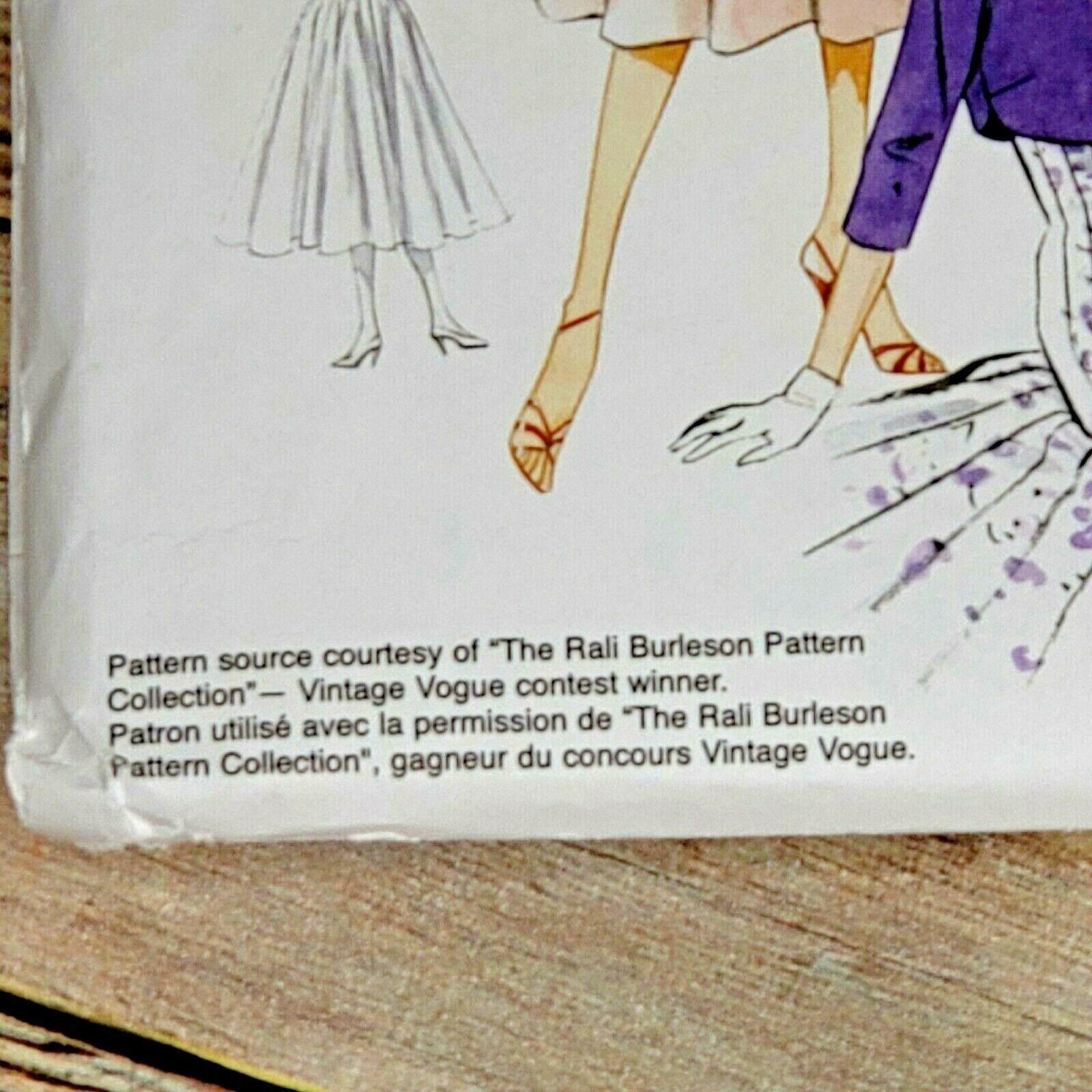 Vogue Vintage Pattern V8999 Dress Bolero Original 1954 Design Size E5 14-22 image 3