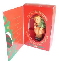 M J Hummel Goebel Germany Christmas Ornament Girl Fir Tree 1215 Vintage ... - $19.95