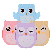 VKTECH 2 Layer Cartoon Owl Lunchbox Food Fruit Plastic - $19.95