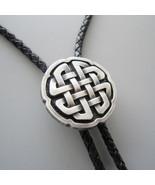 New Original Antique Silver Plated Celtic Cross Knot Bolo Tie also Stock... - $13.17